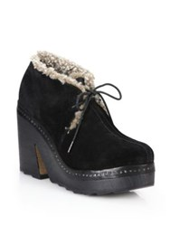 Rag And Bone Inez Suede And Shearling Desert Clogs