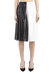Proenza Schouler Mid Length Leather Skirt Black