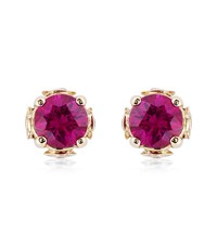 Theo Fennell Ruby Chinese Blossom Bud Earrings Female