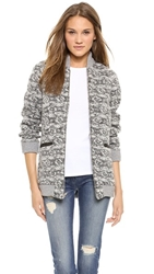 Thakoon Tweed Front Pocket Jacket Black Ivory
