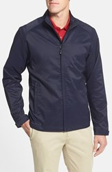 Men's Big And Tall Cutter And Buck 'Blakely' Weathertec Wind And Water Resistant Full Zip Jacket Liberty Navy
