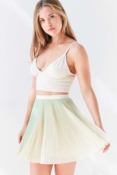 Kimchi And Blue Sammy Pleated Mini Skirt Mint