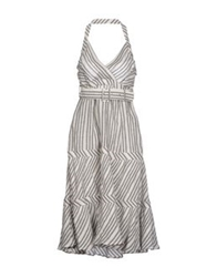 Pf Paola Frani Knee Length Dresses Light Grey