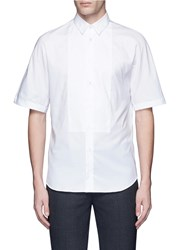 Ports 1961 Bib Front Short Sleeve Cotton Shirt White