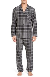 Majestic International Men's Rustic Lux Cotton Pajamas Charcoal