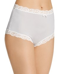 Fine Lines Microfiber Scallop Lace Full Brief Mb061 Platinum