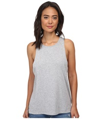 Hurley Solid Riot Biker Tank Heather Grey Women's Sleeveless Gray