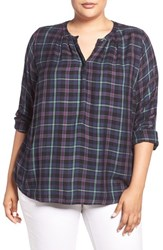 Lucky Brand Plus Size Women's Plaid Girlfriend Shirt