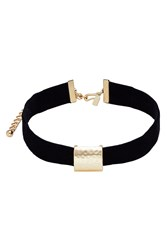 Kenneth Jay Lane Embellished Velvet Choker Gold