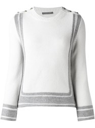 Alexander Mcqueen Button Detailed Jumper White