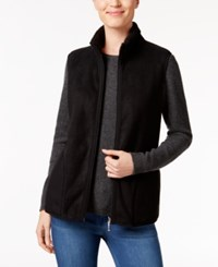 Karen Scott Petite Reversible Vest Only At Macy's Deep Black