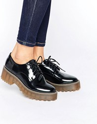 Monki Chunky Sole Brogues Black