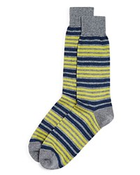 Bloomingdale's The Men's Store At Double Stripe Socks Charcoal