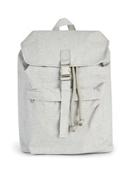 Topman Light Grey Canvas Backpack
