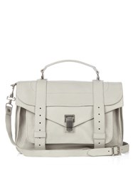 Proenza Schouler Ps1 Medium Leather Shoulder Bag Light Grey