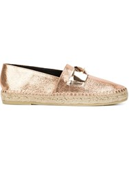 Robert Clergerie Metallic Espadrilles Pink And Purple