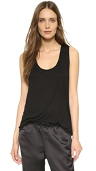 Alexander Wang Classic Low Neck Flared Tank Black