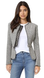 Alexander Wang Peplum Jacket With Ball Studs Black And White