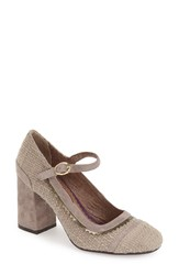 Poetic Licence 'Take It Easy' Mary Jane Pump Women Stone Fabric