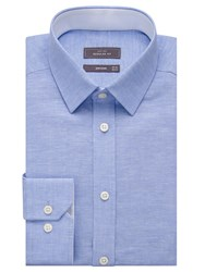 John Lewis Linen Cotton Regular Fit Shirt Blue
