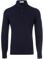 Brunello Cucinelli Polo Collar Jumper Blue