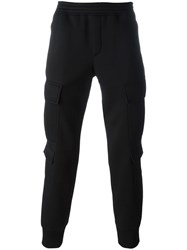 Neil Barrett Cropped Track Pants Black