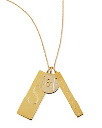 14K Gold Plated Edie 3 Pendant Necklace With Personalized Monogram Initial And Name Sarah Chloe