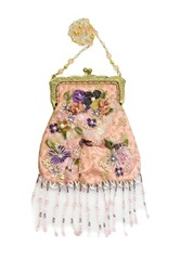 Vintage Addiction Victorian Inspired Fringed Pink Purse