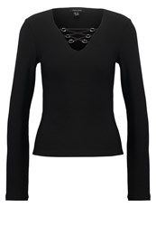 New Look Ottoman Long Sleeved Top Black