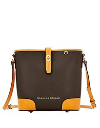 Dooney And Bourke Claremont Leather Bucket Crossbody Bag Black