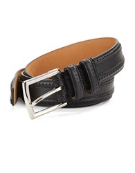 Cole Haan Perforated Leather Belt Oxford