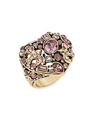 Heidi Daus State Of The Heart Crystal Ring Gold Pink