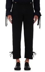 J.W.Anderson Men's Lace Up Cuff Pants Black