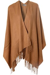 Alice And You Tassle Blanket Cape Camel