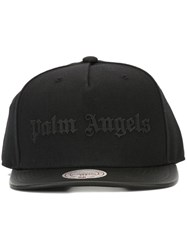 Palm Angels Logo Print Cap Black