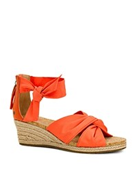 Ugg Starla Wedge Espadrille Sandals Hazard Orange