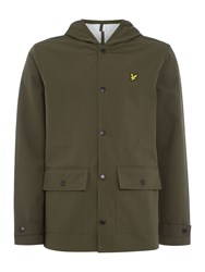 Lyle And Scott Hooded Raincoat Sage Green