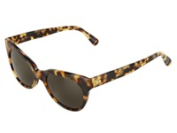 Kamalikulture By Norma Kamali Square Cat Eye Sunglasses Tokyo Tort Green Plastic Frame Fashion Sunglasses Animal Print
