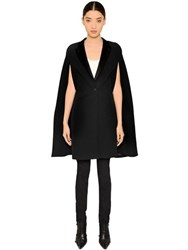 Givenchy Smoking Cool Wool And Satin Cape
