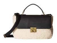 Ugg Vivenne Sheepskin Small Satchel Black Natural Satchel Handbags