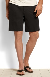 Tommy Bahama 'New St. Thomas' Flat Front Silk And Cotton Shorts Big And Tall Black