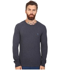 Original Penguin Long Sleeve Reversible Crew Dark Sapphire Men's Long Sleeve Pullover Black
