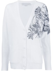 Stella Mccartney Embroidered Shoulder Cardigan White