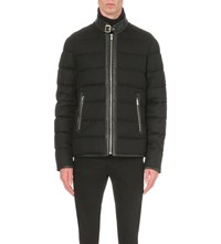 The Kooples Quilted Wool Blend Jacket Black