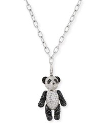 Qeelin Bo Bo Black And White Diamond Panda Pendant Necklace