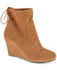 Chinese Laundry Unnie Wedge Booties Women's Shoes Whiskey