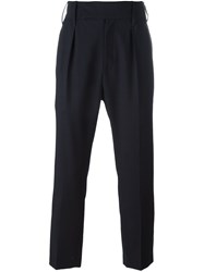 Ann Demeulemeester Straight Trousers Blue