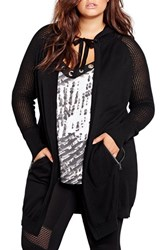 Addition Elle Love And Legend Plus Size Women's Hooded Long Cardigan