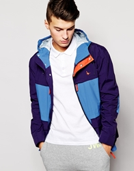 Jack Wills Parka With Colour Block Navy