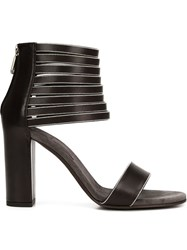 Brunello Cucinelli Ankle Cuff Sandals Black